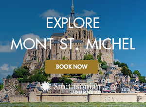 Photo of Mont-Saint-Michel, an island commune in Normandy, France, seen on Smithsonian Journeys France Through the Ages tour.