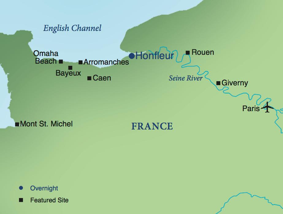 Map Of France Giverny.Normandy A One Week Stay In France Smithsonian Journeys