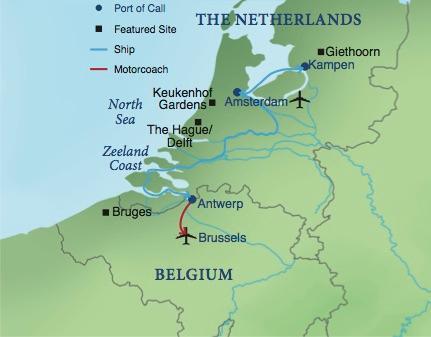 Waterways Of Holland And Belgium Smithsonian Journeys - Netherlands rivers map