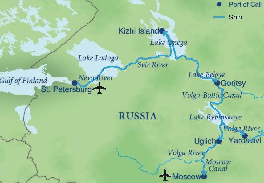 Waterways Of Russia Smithsonian Journeys - Volga river on world map