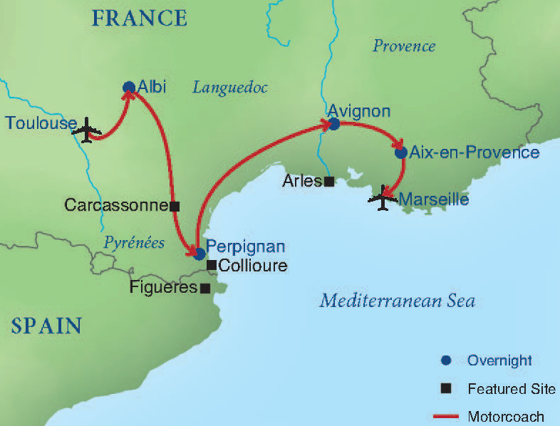 Map South Of France.Southern France Smithsonian Journeys