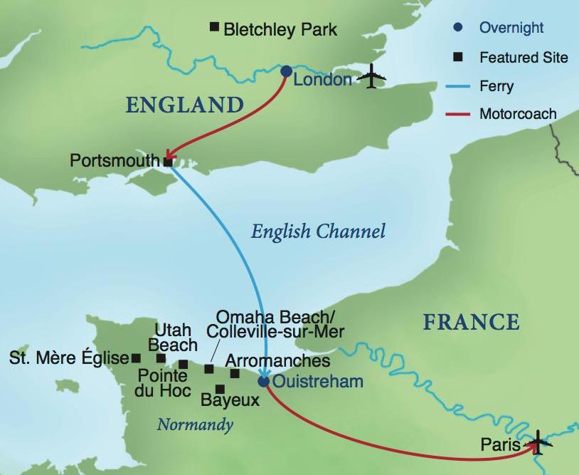 Map Of England To France.D Day A Journey From England To France Smithsonian Journeys