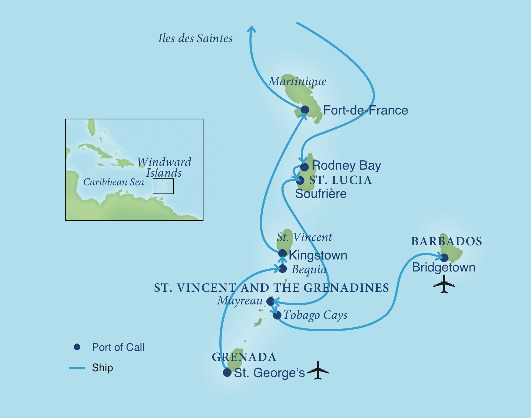 image about Printable Map of Caribbean Islands identify Cruising the Caribbeans Windward Islands Smithsonian Excursions