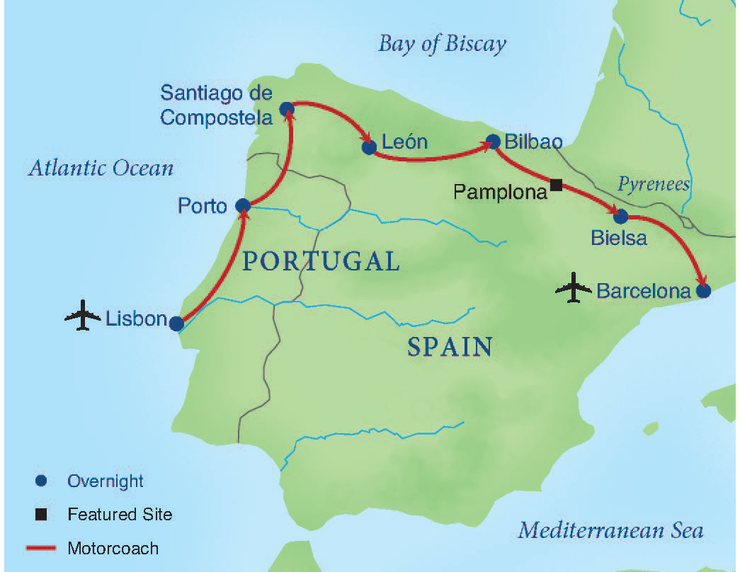 Map Of Portugal And Spain.Across Northern Spain Portugal Smithsonian Journeys