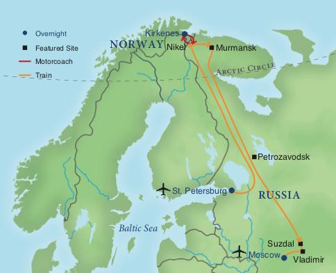 Arctic Circle Russia Map.Arctic Explorer By Private Train Smithsonian Journeys
