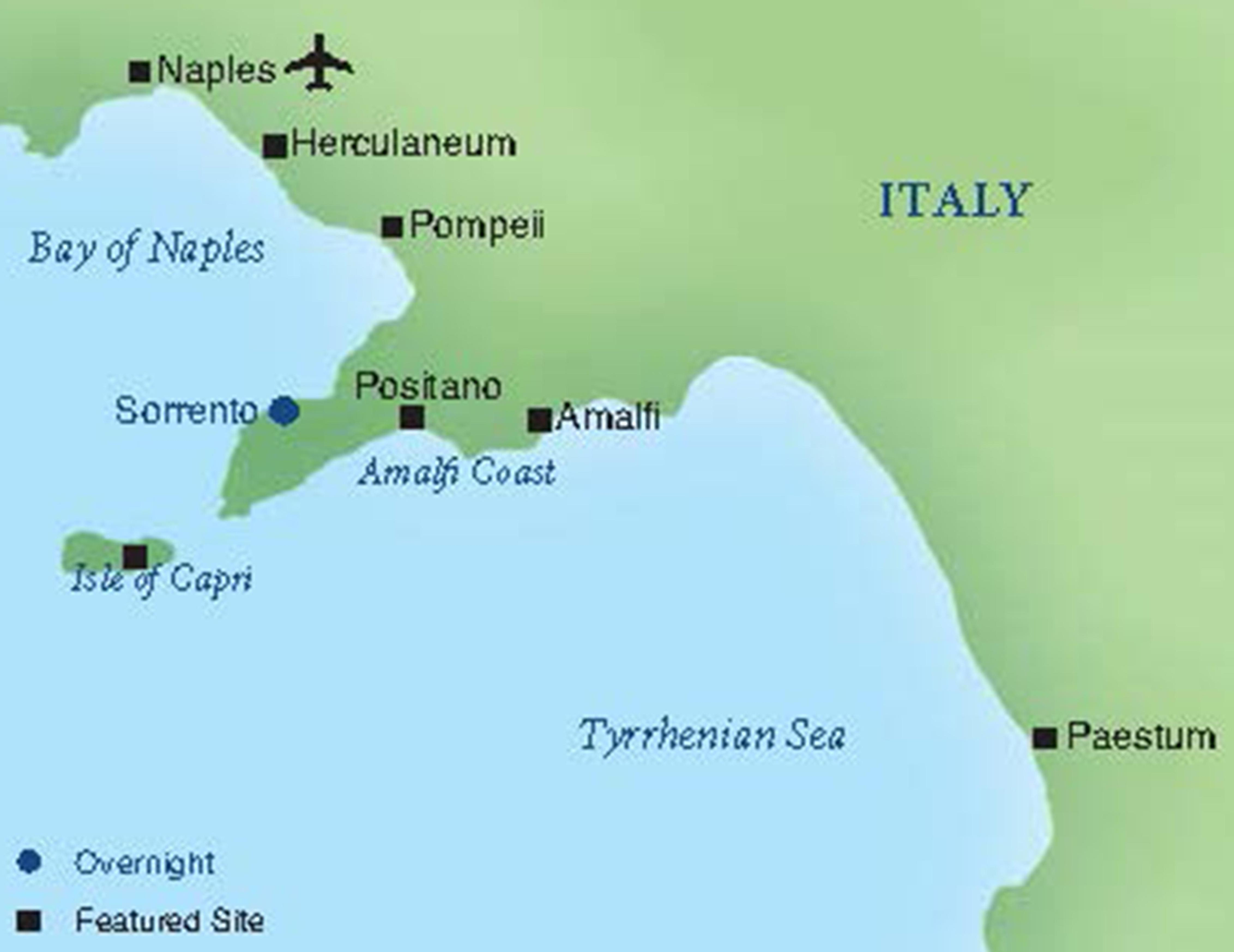 Where Is Pompeii On A Map Of Italy.Sorrento A One Week Stay In Italy Smithsonian Journeys