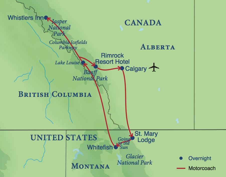 image relating to Printable Map of Glacier National Park referred to as The Northern Rockies Smithsonian Visits