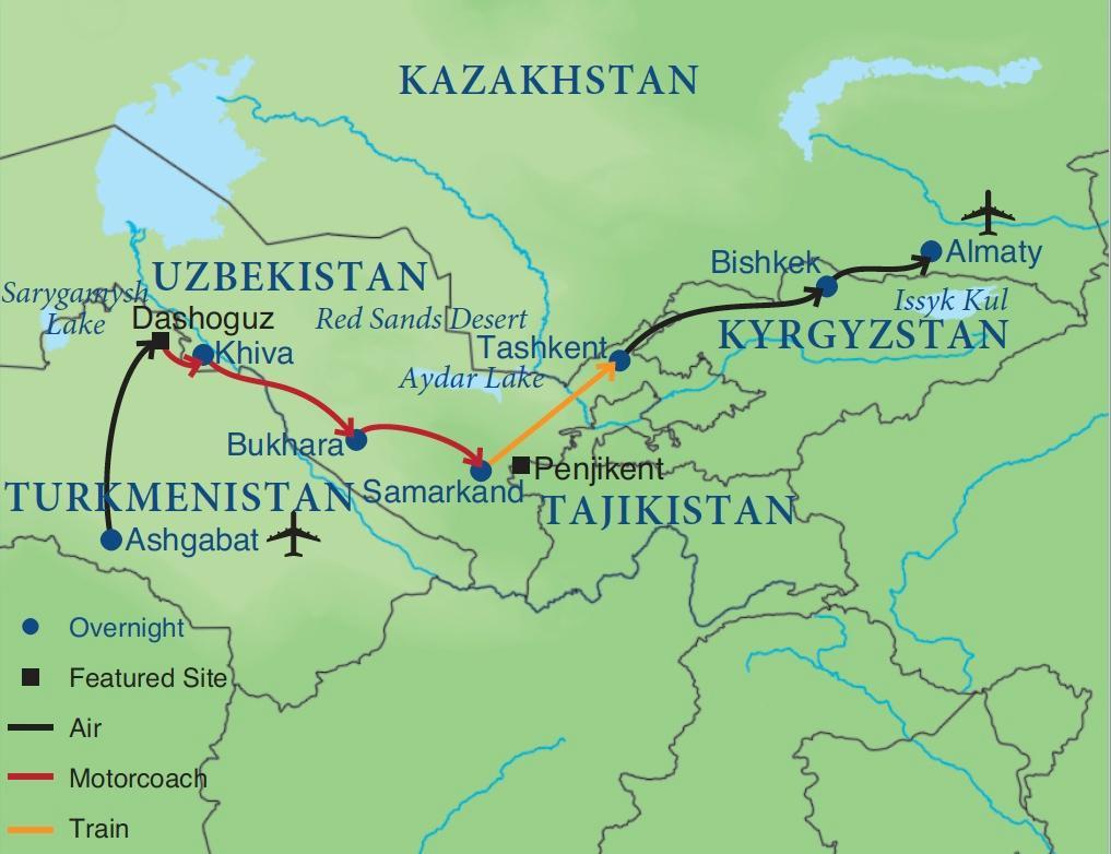 The Silk Road | Smithsonian Journeys Samarkand World Map on hangzhou on world map, omsk world map, merv world map, ctesiphon world map, cappadocia world map, urumqi world map, cordoba world map, golan heights world map, kazan world map, konya world map, jalalabad world map, calicut world map, suzhou world map, bukhara world map, manzikert on a world map, malacca on world map, aqaba world map, guangzhou world map, genoa world map, eastern asia world map,