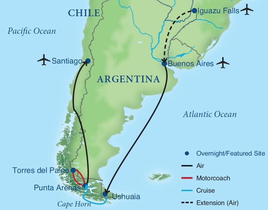 map of patagonia chile Patagonian Explorer Smithsonian Journeys map of patagonia chile